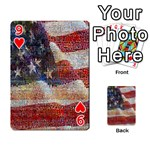 Grunge United State Of Art Flag Playing Cards 54 Designs  Front - Heart9
