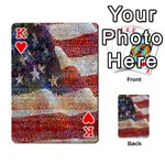 Grunge United State Of Art Flag Playing Cards 54 Designs  Front - HeartK