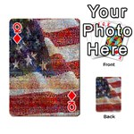 Grunge United State Of Art Flag Playing Cards 54 Designs  Front - DiamondQ