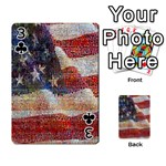 Grunge United State Of Art Flag Playing Cards 54 Designs  Front - Club3