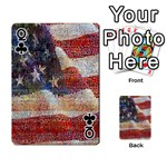 Grunge United State Of Art Flag Playing Cards 54 Designs  Front - ClubQ