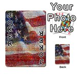 Grunge United State Of Art Flag Playing Cards 54 Designs  Front - Joker1