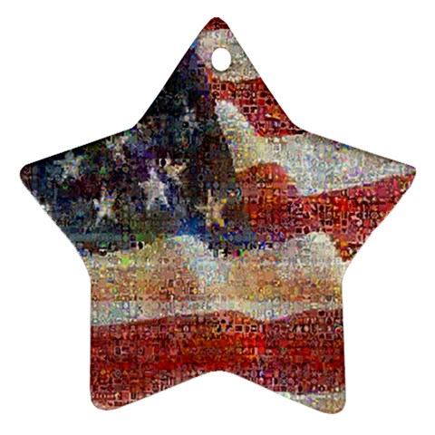 Grunge United State Of Art Flag Star Ornament (Two Sides)