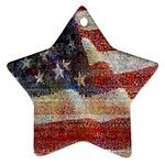 Grunge United State Of Art Flag Star Ornament (Two Sides)  Back