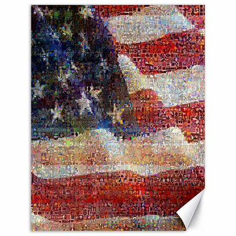 Grunge United State Of Art Flag Canvas 12  x 16