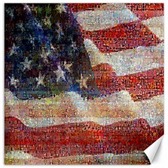 Grunge United State Of Art Flag Canvas 16  x 16
