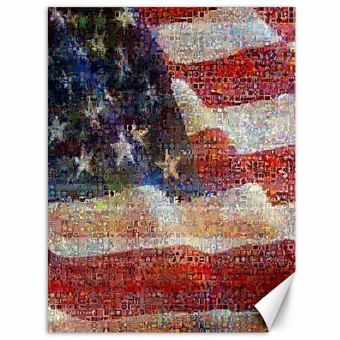 Grunge United State Of Art Flag Canvas 36  x 48