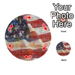Grunge United State Of Art Flag Playing Cards 54 (Round)  Front - DiamondQ