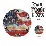 Grunge United State Of Art Flag Playing Cards 54 (Round)  Front - Club10