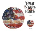 Grunge United State Of Art Flag Playing Cards 54 (Round)  Front - Joker1
