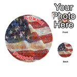 Grunge United State Of Art Flag Playing Cards 54 (Round)  Front - Joker2