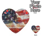 Grunge United State Of Art Flag Playing Cards 54 (Heart)  Front - Heart9