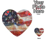 Grunge United State Of Art Flag Playing Cards 54 (Heart)  Front - HeartQ