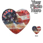 Grunge United State Of Art Flag Playing Cards 54 (Heart)  Front - Joker2