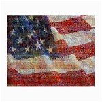 Grunge United State Of Art Flag Small Glasses Cloth (2-Side) Back