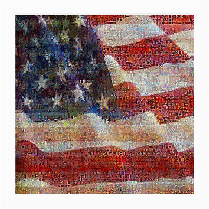 Grunge United State Of Art Flag Medium Glasses Cloth