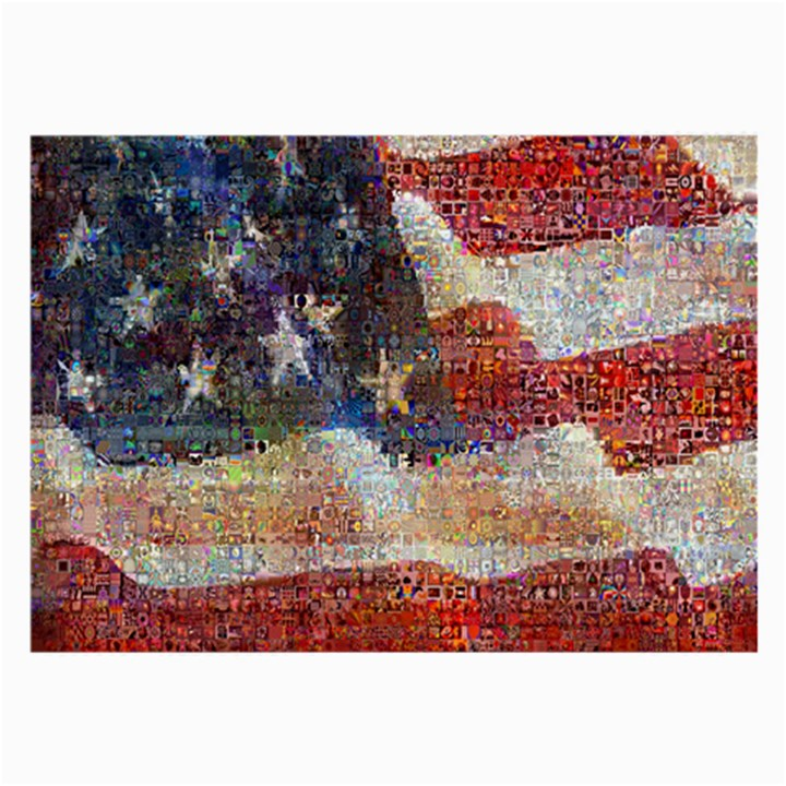 Grunge United State Of Art Flag Large Glasses Cloth (2-Side)