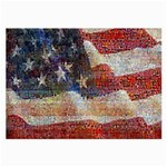 Grunge United State Of Art Flag Large Glasses Cloth (2-Side) Back