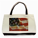 Grunge United State Of Art Flag Basic Tote Bag (Two Sides) Front