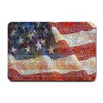 Grunge United State Of Art Flag Small Doormat  24 x16 Door Mat - 1