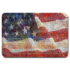 Grunge United State Of Art Flag Large Doormat