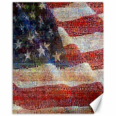 Grunge United State Of Art Flag Canvas 11  x 14