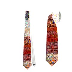 Grunge United State Of Art Flag Neckties (One Side)