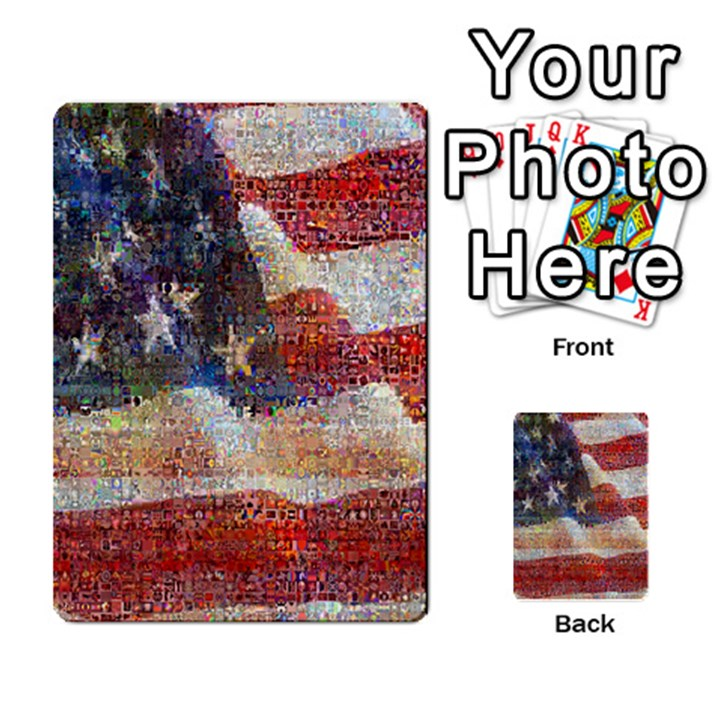 Grunge United State Of Art Flag Multi-purpose Cards (Rectangle)