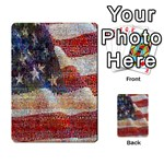 Grunge United State Of Art Flag Multi-purpose Cards (Rectangle)  Back 18