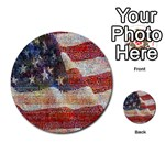 Grunge United State Of Art Flag Multi-purpose Cards (Round)  Front 9