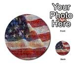 Grunge United State Of Art Flag Multi-purpose Cards (Round)  Back 37