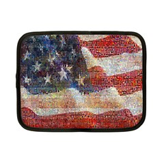 Grunge United State Of Art Flag Netbook Case (Small)