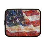 Grunge United State Of Art Flag Netbook Case (Small)  Front