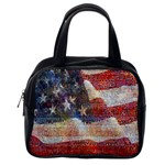 Grunge United State Of Art Flag Classic Handbags (One Side) Front