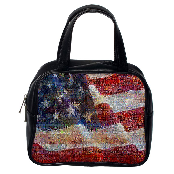 Grunge United State Of Art Flag Classic Handbags (One Side)