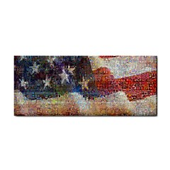 Grunge United State Of Art Flag Hand Towel