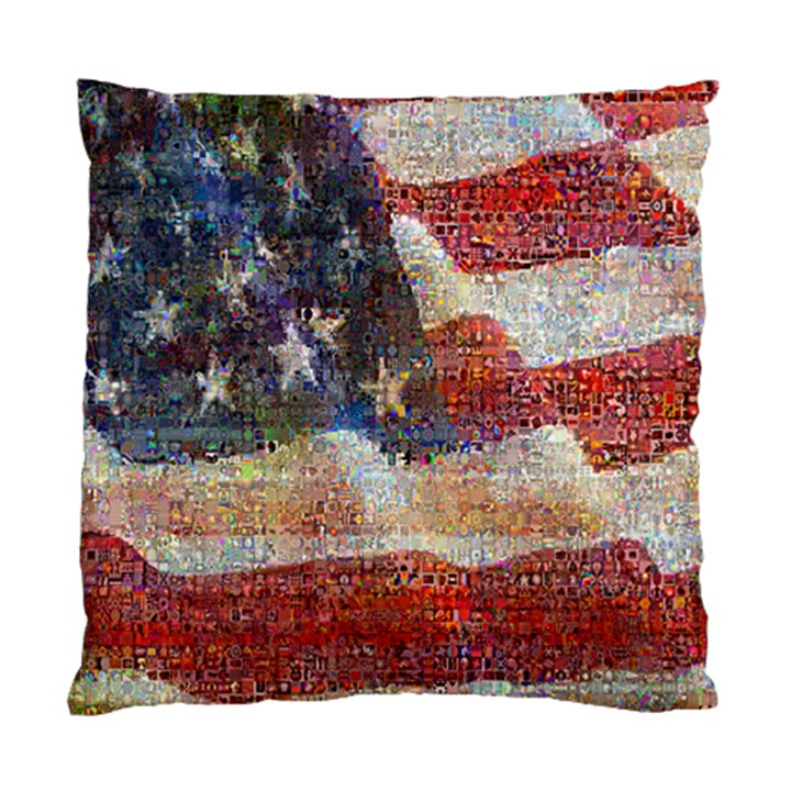 Grunge United State Of Art Flag Standard Cushion Case (Two Sides)