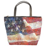 Grunge United State Of Art Flag Bucket Bags Front
