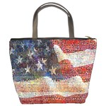 Grunge United State Of Art Flag Bucket Bags Back