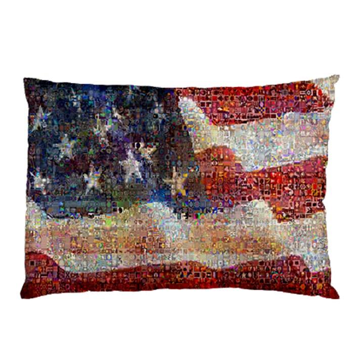 Grunge United State Of Art Flag Pillow Case