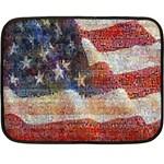 Grunge United State Of Art Flag Fleece Blanket (Mini) 35 x27 Blanket