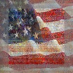 Grunge United State Of Art Flag Mini Canvas 6  x 6  6  x 6  x 0.875  Stretched Canvas