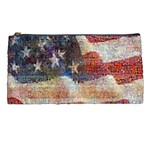 Grunge United State Of Art Flag Pencil Cases Front