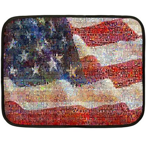 Grunge United State Of Art Flag Double Sided Fleece Blanket (Mini)