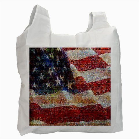 Grunge United State Of Art Flag Recycle Bag (One Side)