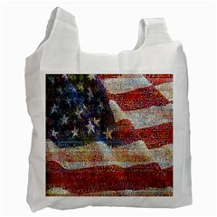 Grunge United State Of Art Flag Recycle Bag (Two Side)