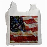Grunge United State Of Art Flag Recycle Bag (Two Side)  Front