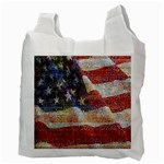 Grunge United State Of Art Flag Recycle Bag (Two Side)  Back