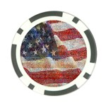 Grunge United State Of Art Flag Poker Chip Card Guards (10 pack)  Front