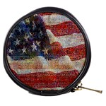 Grunge United State Of Art Flag Mini Makeup Bags Front